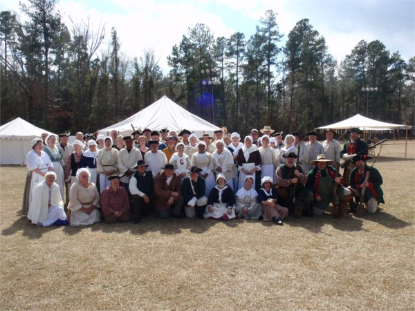 So many re-enactors to present Rev history