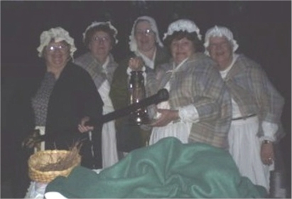 backcountry ladies on the lantern walk