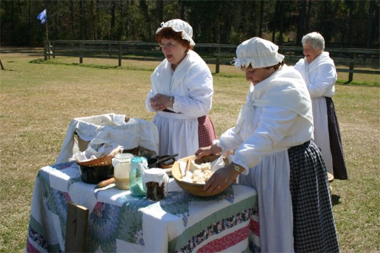 ladies show soap making
